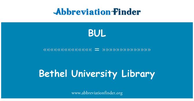 BUL: Bethel University Library