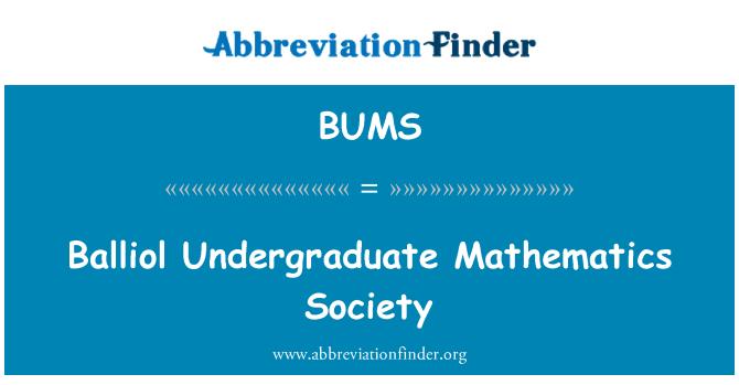 BUMS: Balliol lisans matematik Derneği