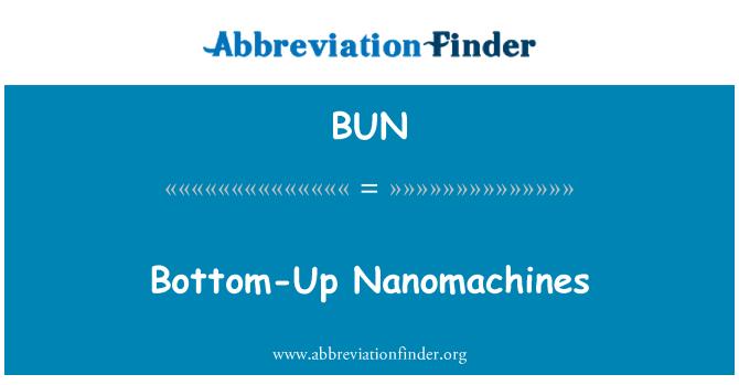 BUN: Bottom-Up Nanomachines