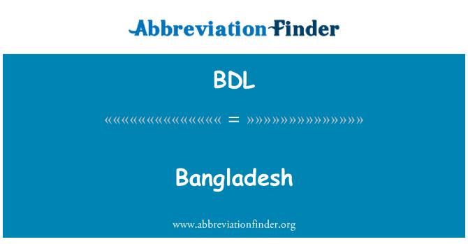 BDL: 孟加拉国