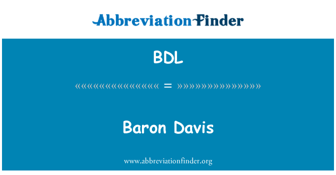 BDL: Davis Baron