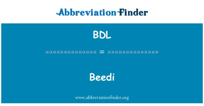 BDL: Beedi