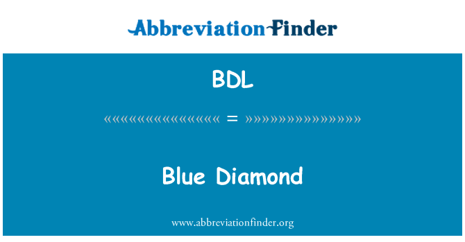 BDL: Blue Diamond