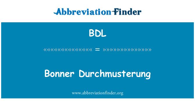 BDL: Bonner Durchmusterung