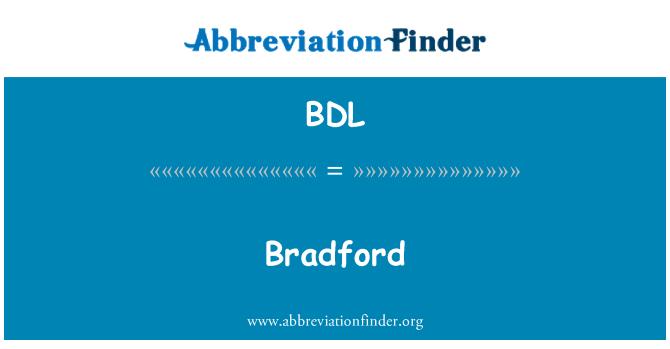 BDL: Bradford