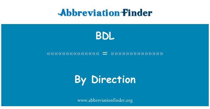 BDL: 由方向