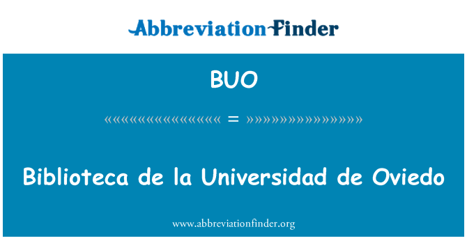 BUO: Biblioteca de la Universidad de Oviedo