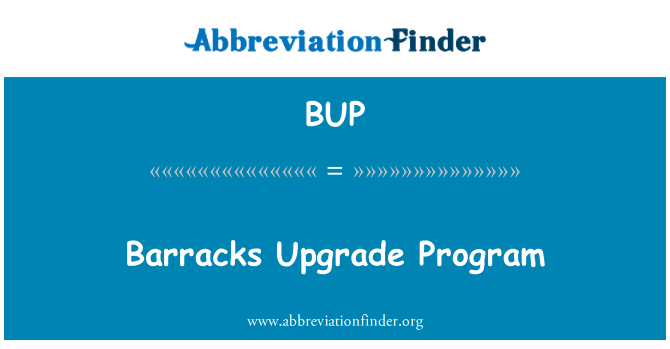 BUP: Barracks Upgrade Program