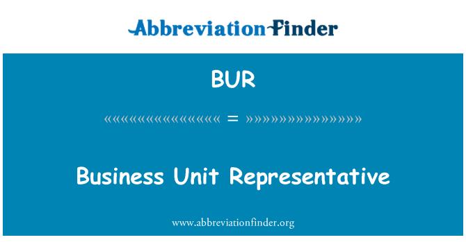 BUR: Business Unit Representative