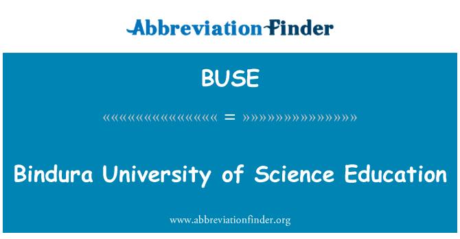 BUSE: Educación de la Universidad de Ciencias de Bindura