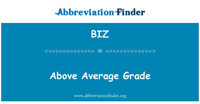 BIZ: 以上平均品位