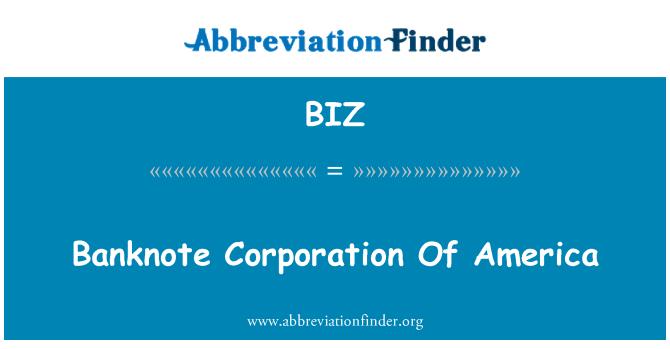 BIZ: 美国钞票公司