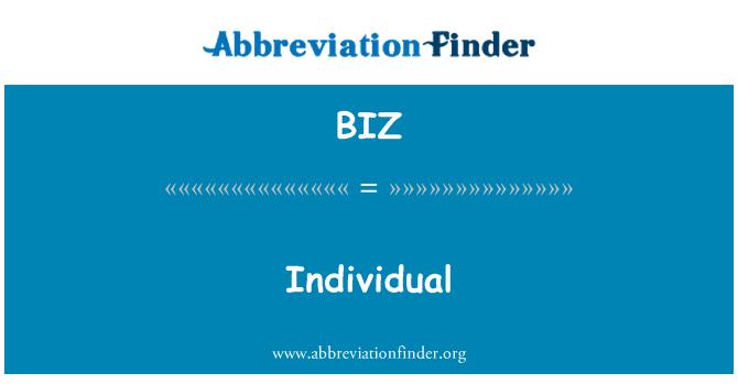 BIZ: Individu