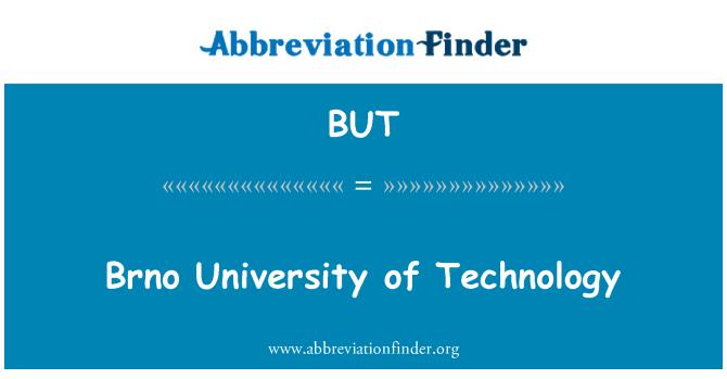 BUT: Brno University of Technology