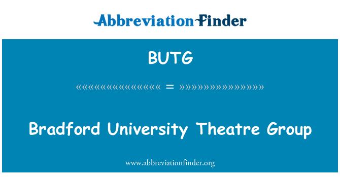 BUTG: Bradford University Theatre Group
