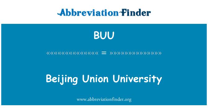 BUU: Beijing Union University