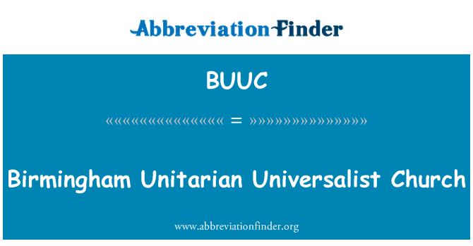 BUUC: 伯明翰统一世界主义教会