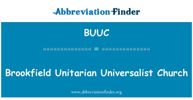 BUUC: 布鲁克菲尔德统一世界主义教会