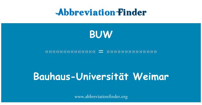 BUW: Bauhaus-Universität Weimar