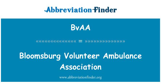 BvAA: Bloomsburg Volunteer Ambulance Association