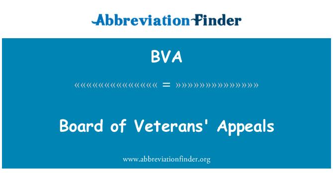 BVA: Board of Veterans' Appeals
