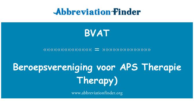 BVAT: Beroepsvereniging voor APS Therapie   Therapy)