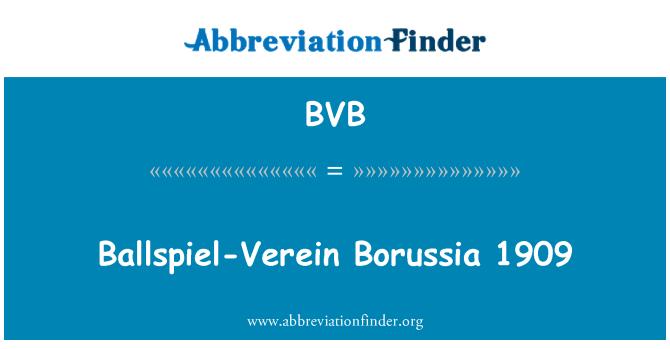 BVB: Ballspiel-Verein Borussia 1909