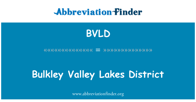 BVLD: Bulkley Valley Lakes District