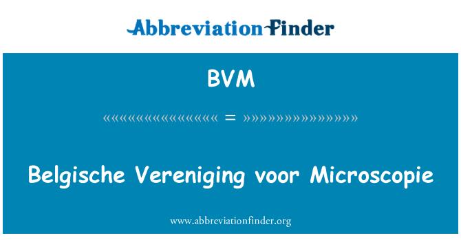 BVM: Belgische Vereniging voor Microscopie