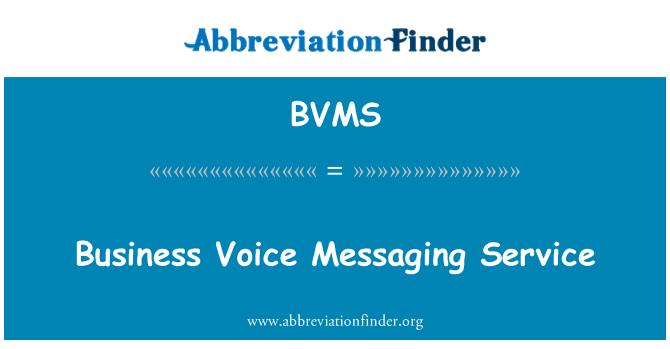 BVMS: Servicio de mensajería de voz de negocios