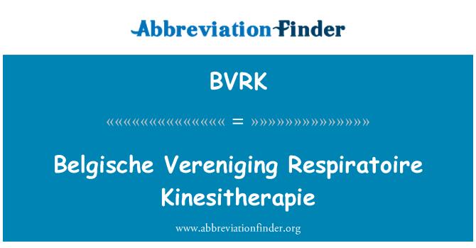 BVRK: Belgische Vereniging Respiratoire Kinesitherapie