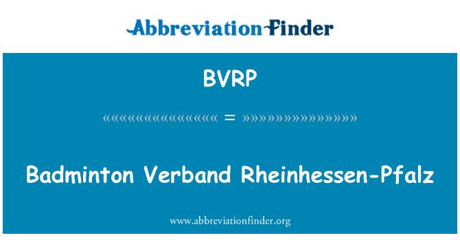 BVRP: Badminton Verband Rheinhessen-Pfalz