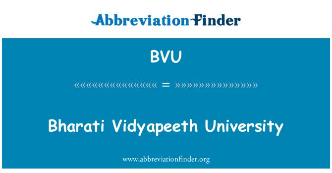 BVU: Bharati Vidyapeeth University