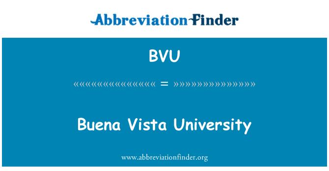 BVU: Buena Vista University