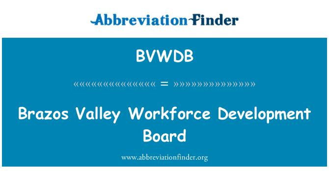 BVWDB: Brazos Valley Workforce Development Board