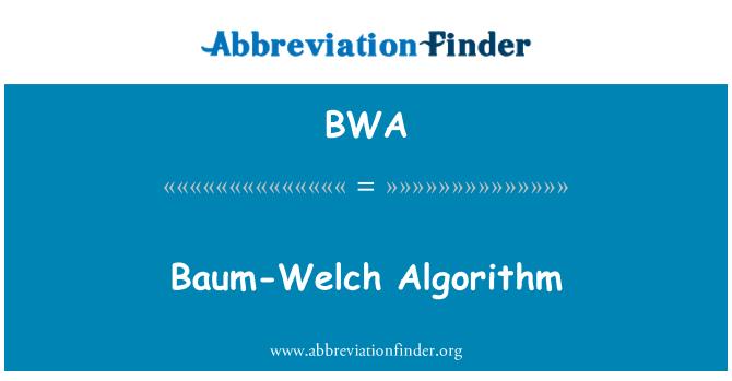 BWA: Baum-Welch Algorithm