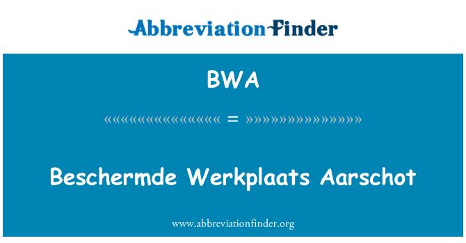 BWA: Beschermde Werkplaats Aarschot