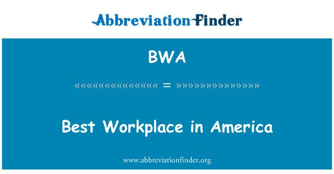 BWA: Best Workplace in America