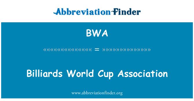 BWA: Billiards World Cup Association