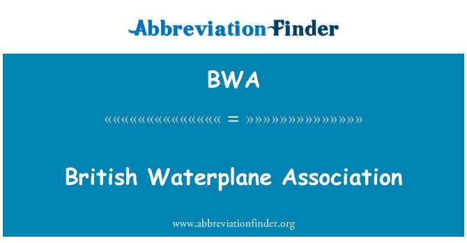 BWA: British Waterplane Association