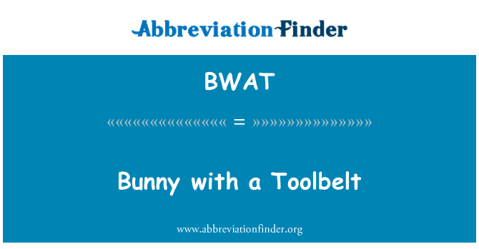 BWAT: Bunny with a Toolbelt
