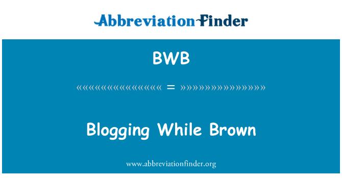 BWB: Blogging While Brown