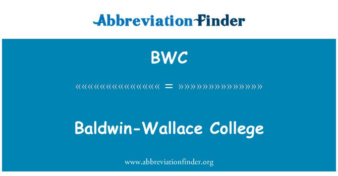 BWC: Baldwin-Wallace College