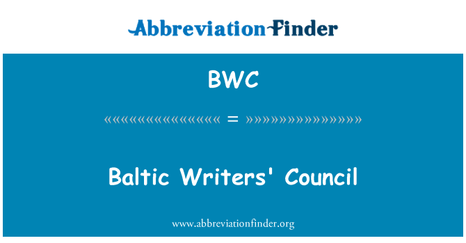 BWC: Baltic Writers' Council