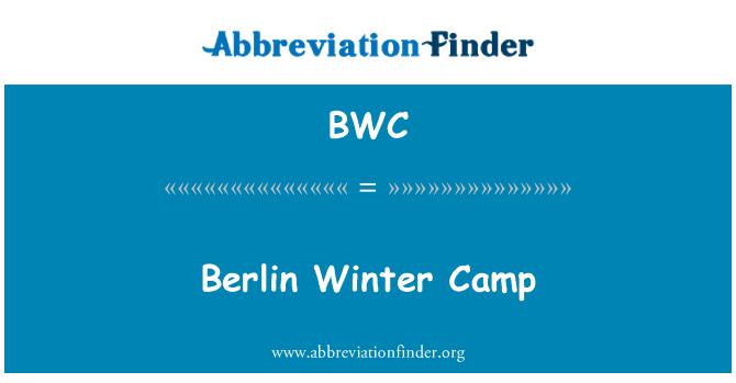 BWC: Berlin Winter Camp