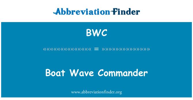 BWC: Boat Wave Commander