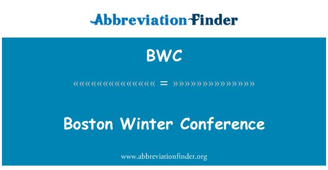 BWC: Boston Winter Conference