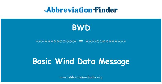 BWD: Basic Wind Data Message