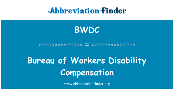 BWDC: Bureau of Workers Disability Compensation