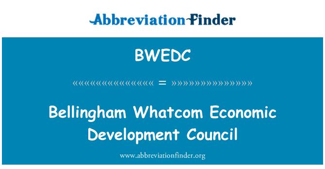 BWEDC: Bellingham Whatcom Economic Development Council
